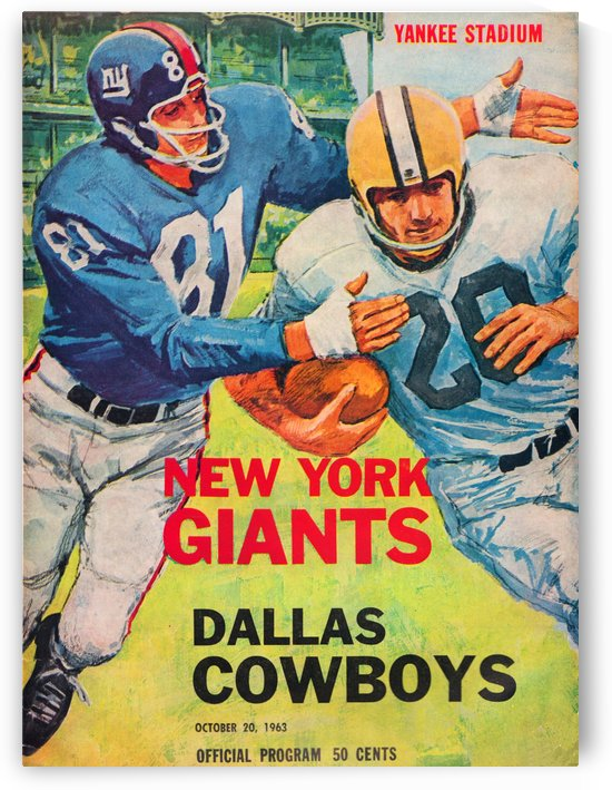 1963_New_York_Giants_Football_Yankee_Stadium_Program_Dallas_Cowboys_Vintage_NFL_Cover_Art_Row_One by Row One Brand