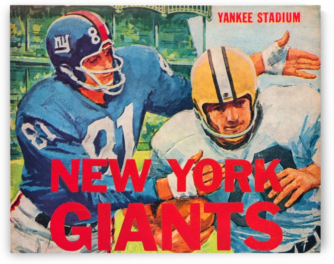 Vintage New York Giants Football Poster by Row One Brand