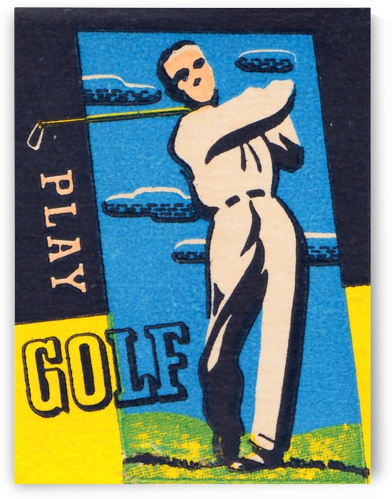 Play Golf Poster by Row One Brand