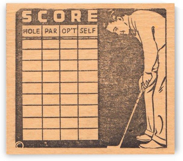 vintage golf scorecard art by Row One Brand