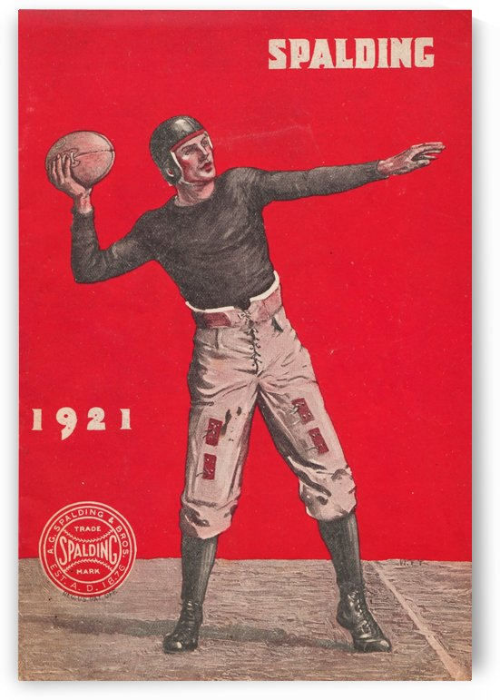 1921 Spalding Football by Row One Brand