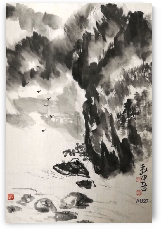 AU27 Ink Painting Landscapes  by Zhongwu