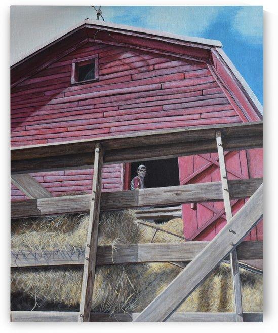 Hay barn by M Brehm