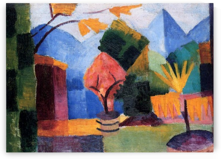 Garden on the lake of Thun by Macke by Macke