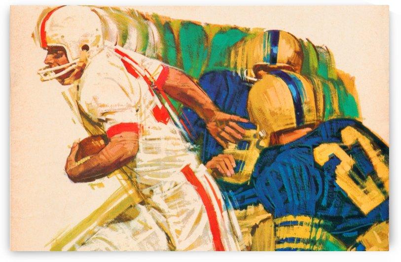 best vintage american football artwork by Row One Brand