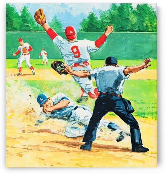 vintage baseball art 1976 by Row One Brand