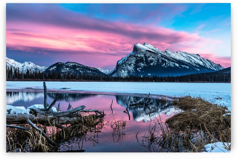 Rundle Mountain Sunset Banff National Park by Mike Gould Photoscapes
