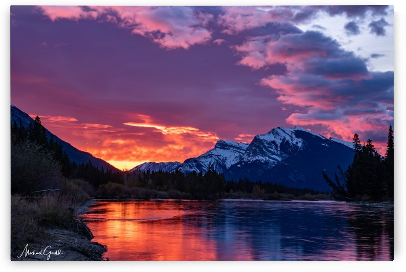 Bow River Sunrise East by Mike Gould Photoscapes