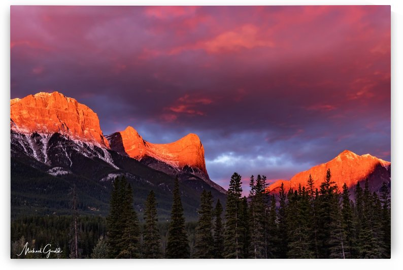 Ha Ling Mountain Range Sunrise by Mike Gould Photoscapes