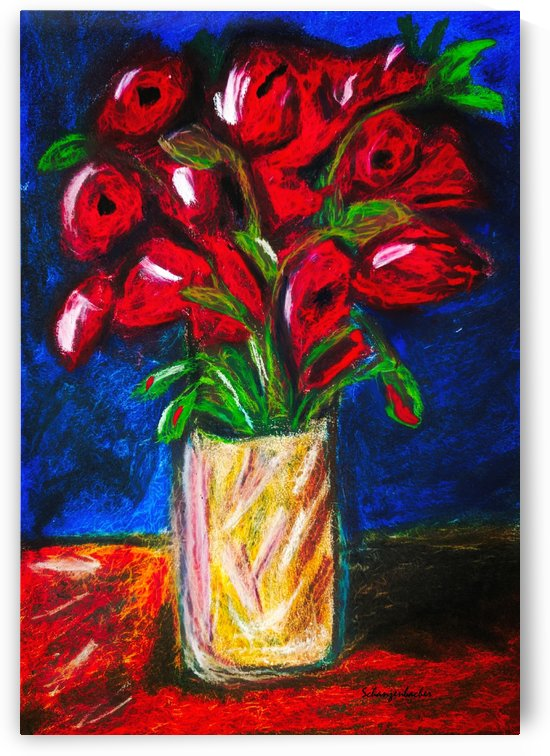 Red Cala Lilies by Aurelia Schanzenbacher Sisters Fine Arts
