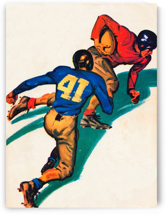 vintage football poster by Row One Brand