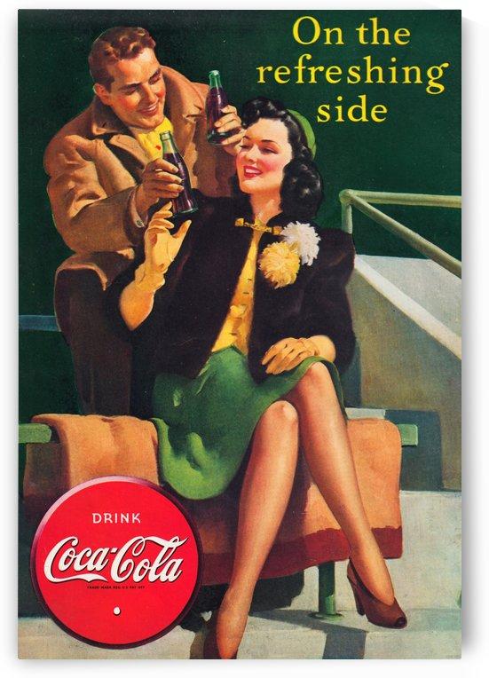 1940 Coke Advertisement Art by Row One Brand