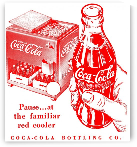 1941 vintage coke ad coca cola advertisement reproduction metal signs coke poster print by Row One Brand