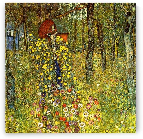Garden with crucifix by Klimt by Klimt