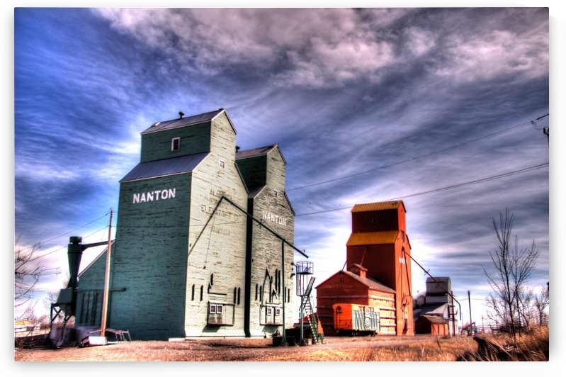 Grain Elevators in Nanton Alberta by Mike Gould Photoscapes