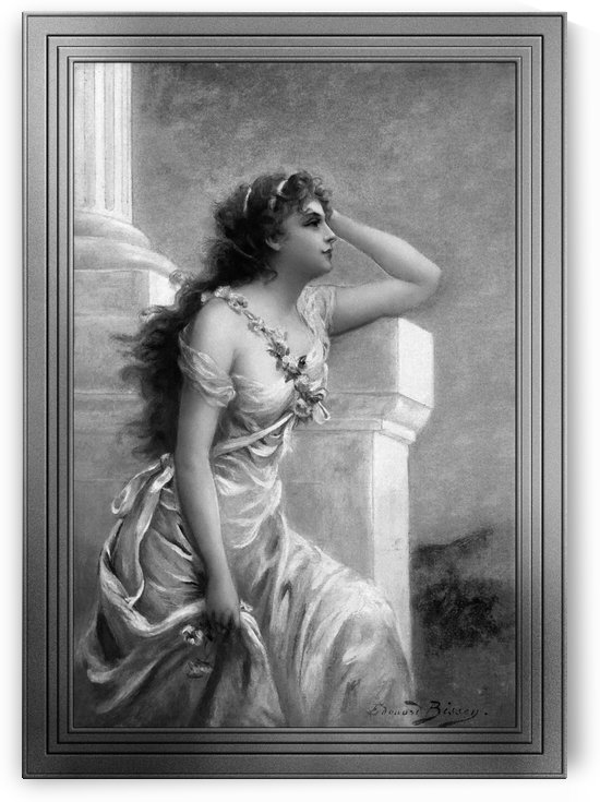 A Young Beauty With A Wreath Of Roses by Edouard Bisson GS by xzendor7