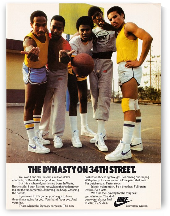 1981 Nike Ad Dynasty on 34th Street by Row One Brand