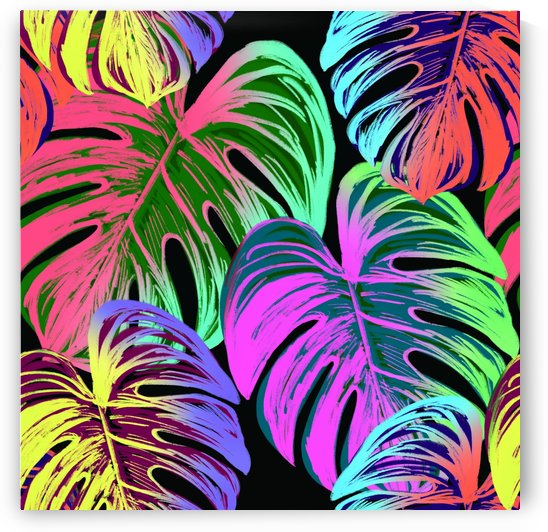 leaves tropical jungle pattern by Shamudy