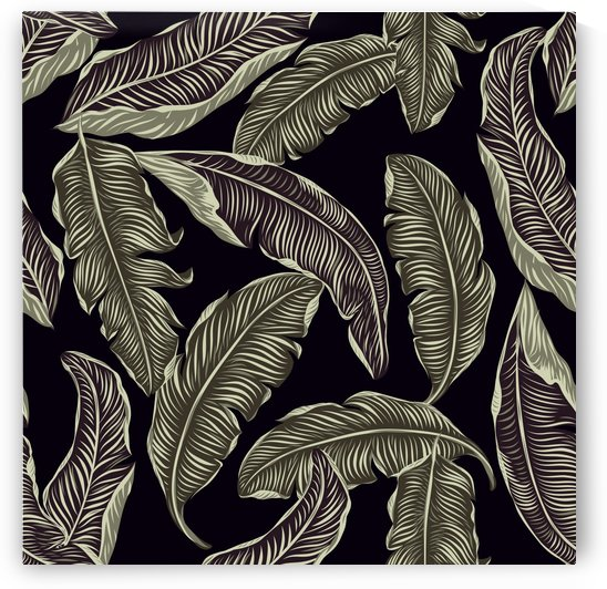 jungle leaves tropical pattern by Shamudy