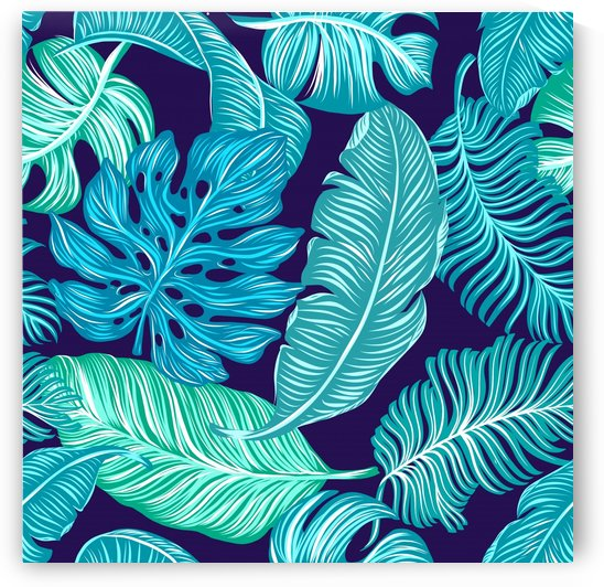 tropical greens leaves design   by Shamudy