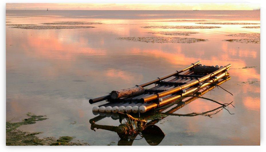 Raft at Sunset by On da Raks