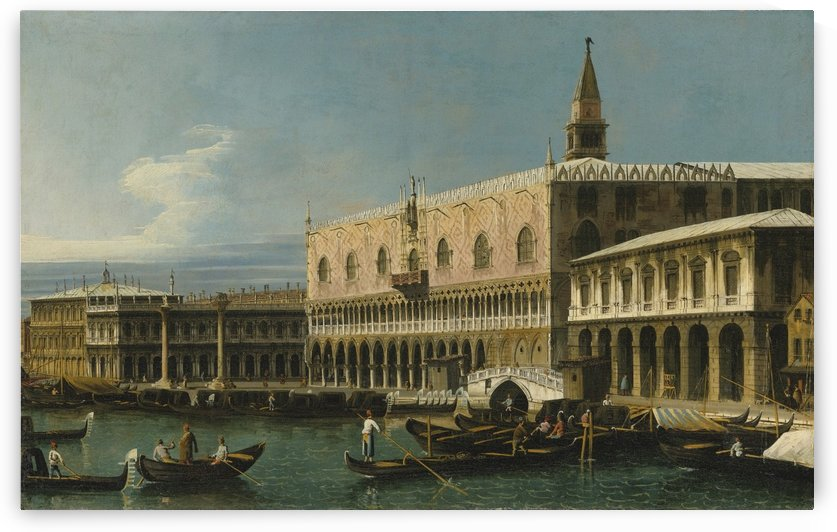 Venice, a view of the Molo, looking West, with the Palazzo Ducale and south side of the Piazzeta by Bernardo Bellotto