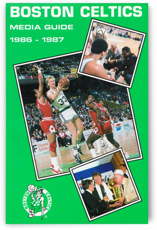 1986 Boston Celtics Media Guide by Row One Brand