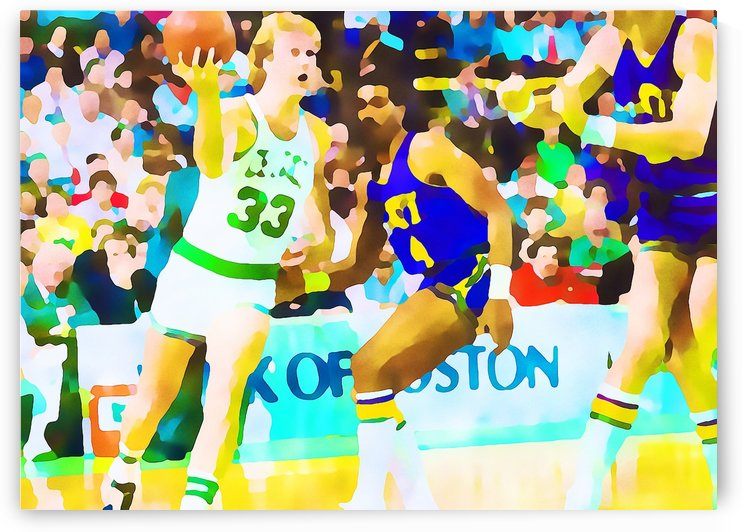 Larry Bird Digital Watercolor by Row One Brand