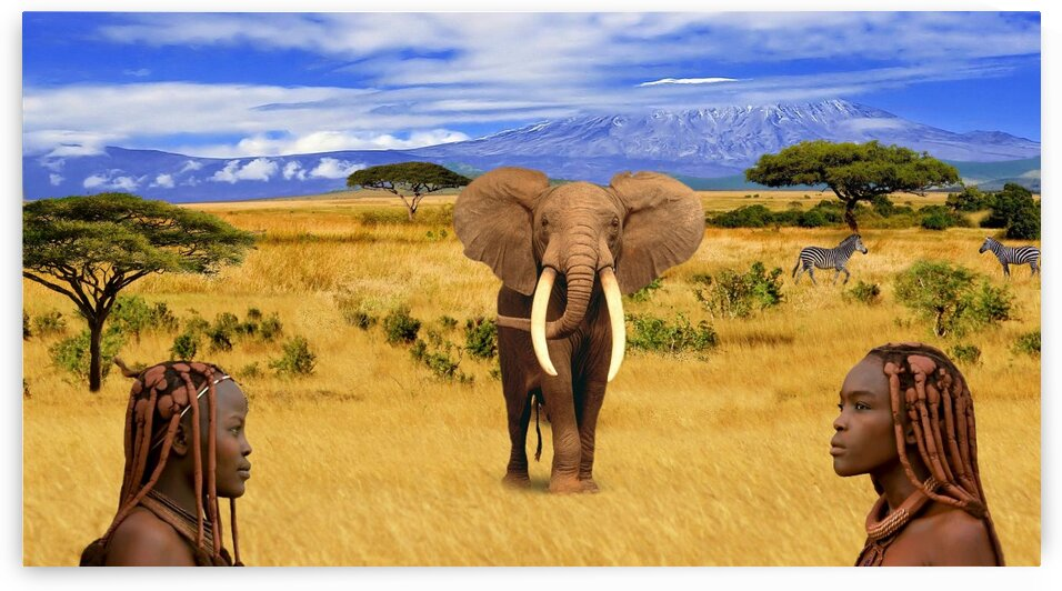 Elephant Animals of Africa by Radiy Bohem