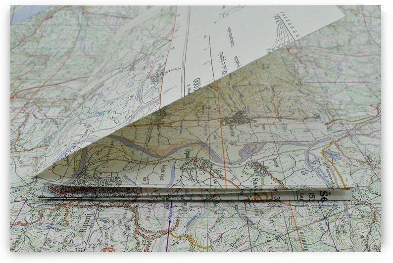 map navigation orientation drawing geography by Shamudy