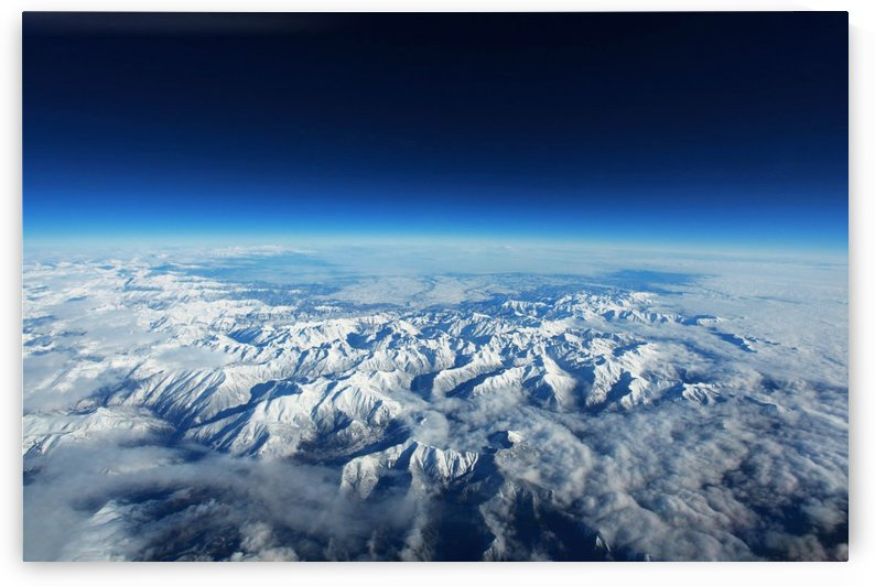 pyrenees mountains snow landscape by Shamudy