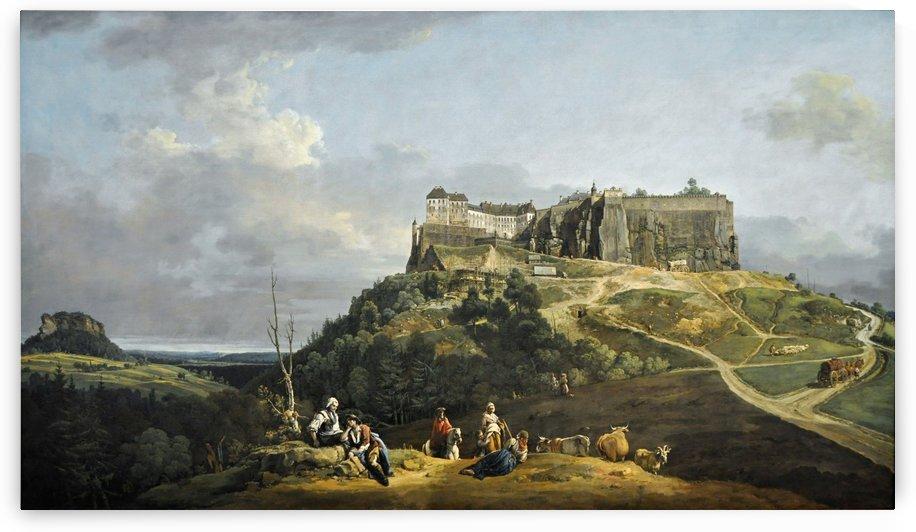Festung Konigstein by Bernardo Bellotto