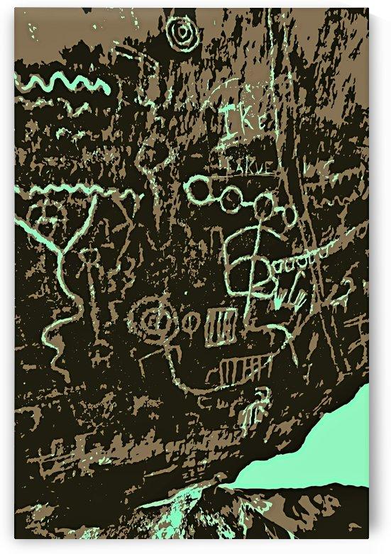 Red Rock Petroglyph by Jarmila Kostliva Studio