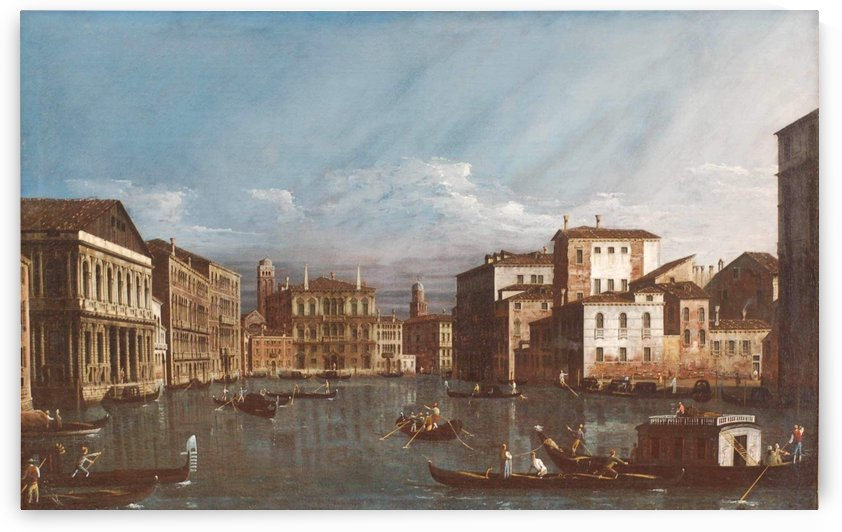 Arno in Florence by Bernardo Bellotto