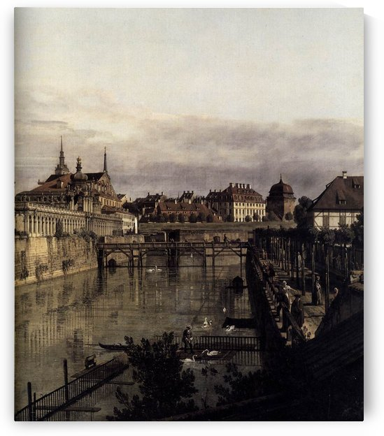 The Moat of the Zwinger in Dresden by Bernardo Bellotto