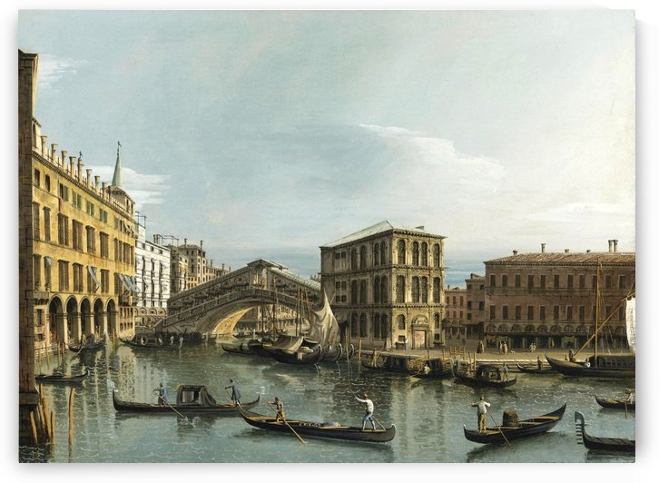 Venice. View of the Grand Canal with the Rialto Bridge, Seen from the North by Bernardo Bellotto