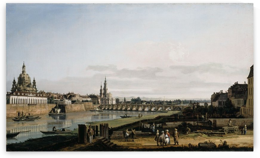 Dresden vom rechten Elbufer by Bernardo Bellotto