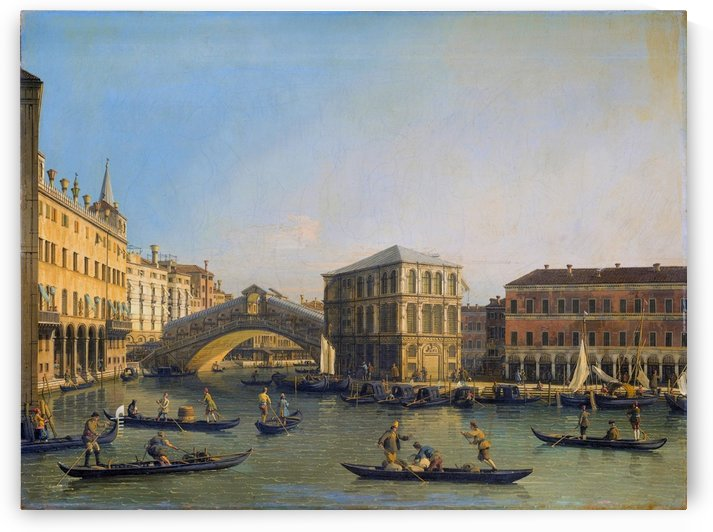 Rialto Bridge Canaletto by Bernardo Bellotto