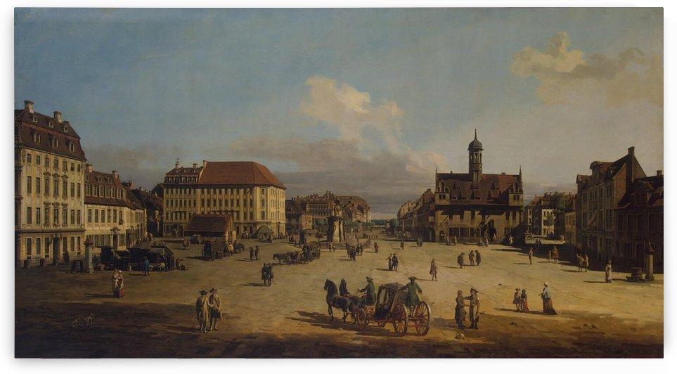 Dresden, Neustadt, Marktplatz mit Rathaus by Bernardo Bellotto