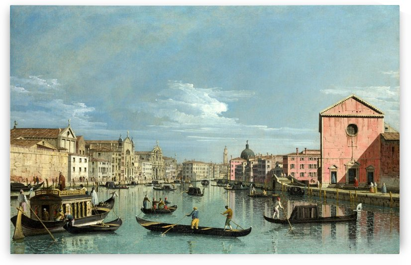 The Grand Canal facing Santa Croce by Bernardo Bellotto