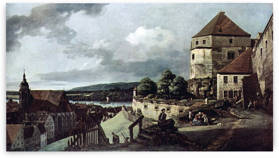 View from Pirna by Bernardo Bellotto