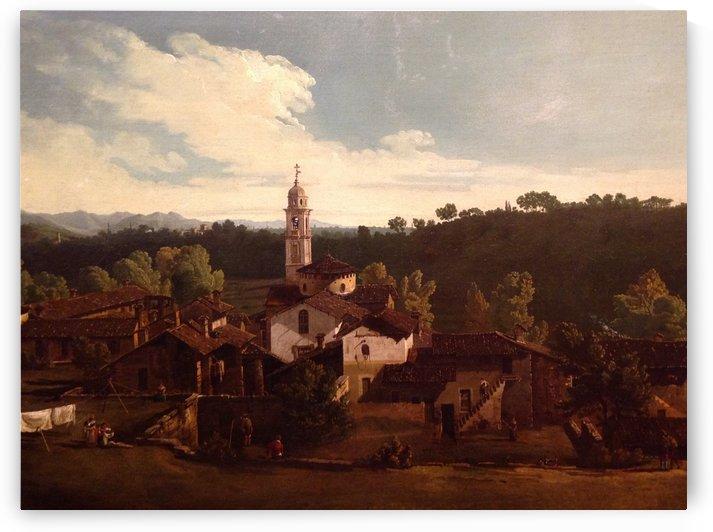 Das Dorf Gazzada by Bernardo Bellotto