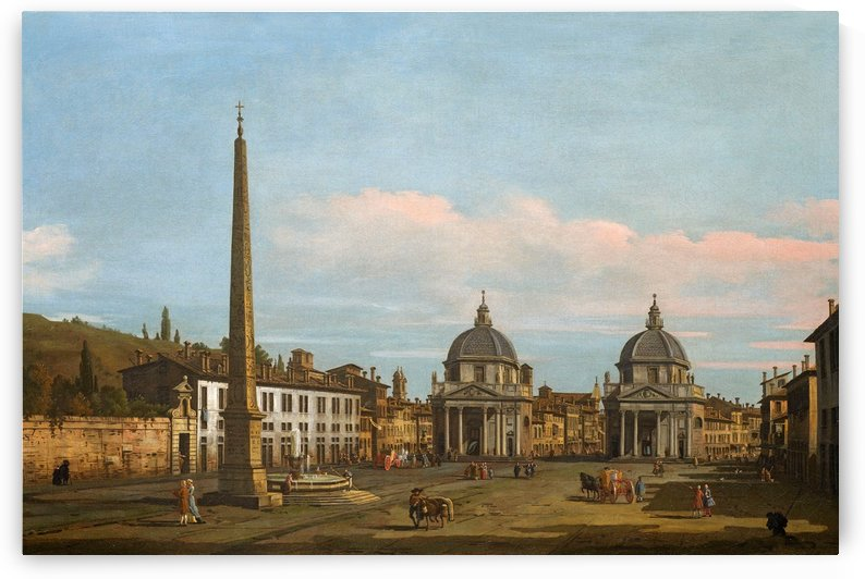 The Piazza del Popolo, Rome by Bernardo Bellotto