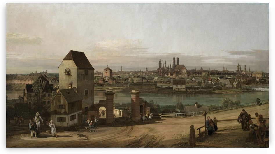 Munich vue de lest by Bernardo Bellotto