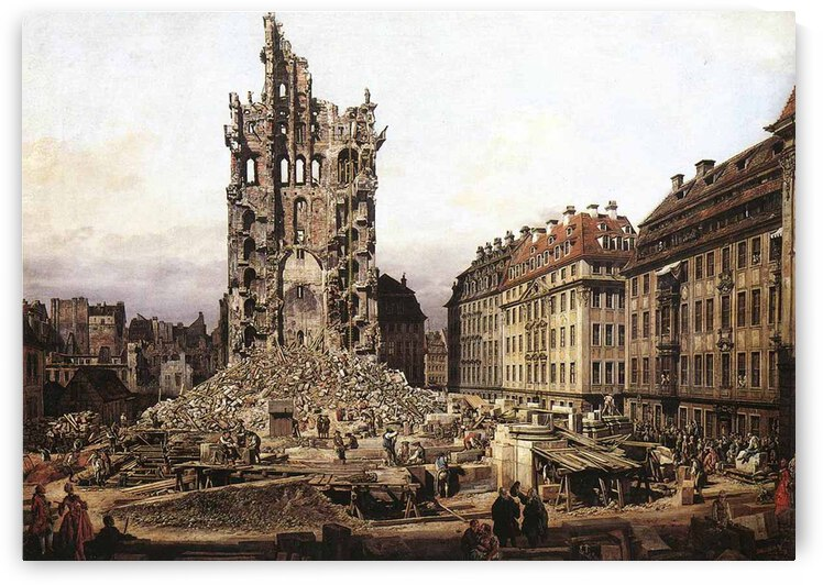 City ruins by Bernardo Bellotto
