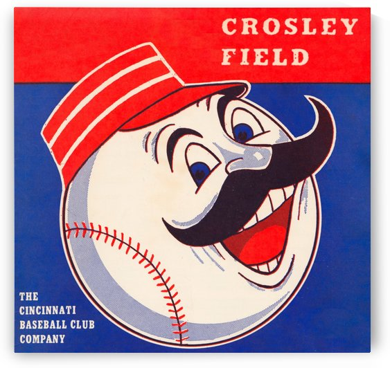 retro remix cincinnati reds scorecard metal sign baseball art prints wood sports posters vintage by Row One Brand