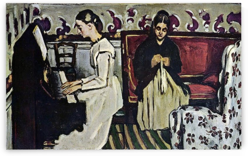 Girl at Piano by Cezanne by Cezanne