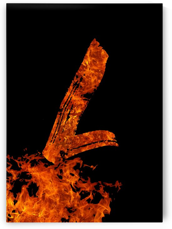 Burning on Fire Letter L by Artistic Paradigms