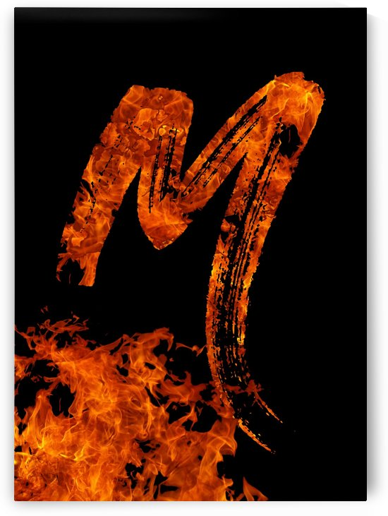 Burning on Fire Letter M by Artistic Paradigms