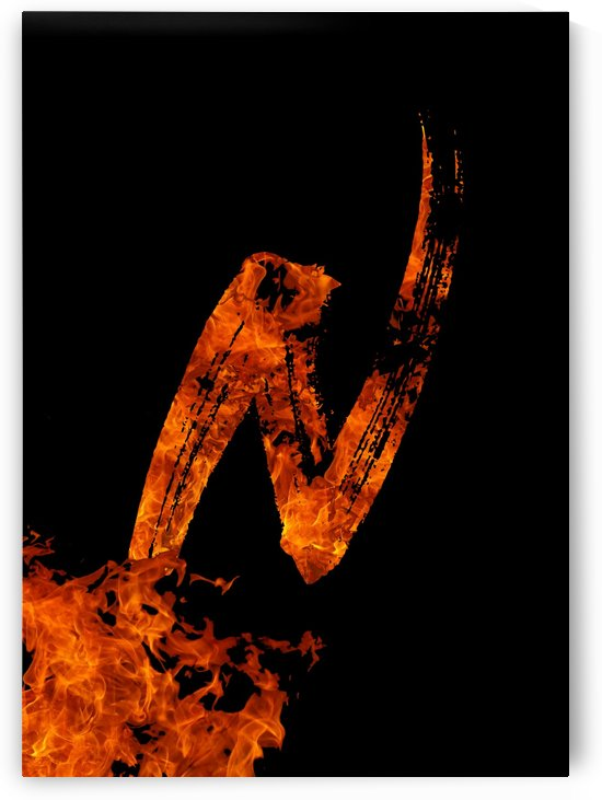 Burning on Fire Letter N by Artistic Paradigms